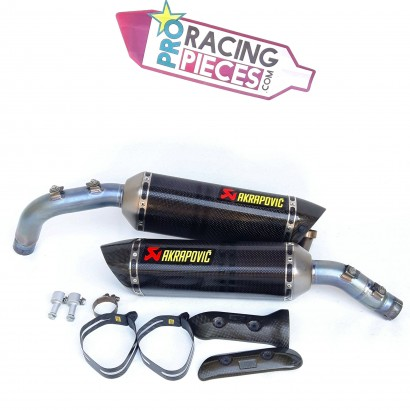Pots akrapovic carbone slip-on Yamaha R1 crossplane 2009-2014